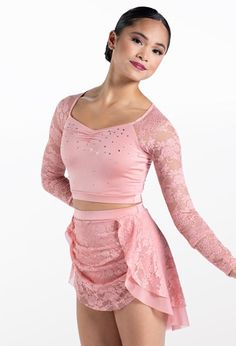 Weissman® Lyrical Costumes, Mesh Skirt, Stretch Lace, Elegant Dresses, Leotards, Perfect Fit, Competition, Bodice, Ballet Skirt