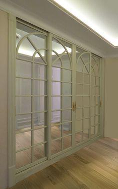 Не просто белый шкаф, а с расстекловкой... #slidingdoor