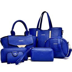 06fad172c8a9 Momo House Six Sets of Fashion Handbags Handbag Shoulder Messenger Bag 6pcs  Blue