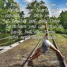 Today, see if you can stretch your heart and expand your love so that it touches not only those to whom you can give it easily, but also those who need it so much. #yoga #love #yogafit #yogagirl #yogalove #YogaEveryDamnDay #igyoga #igfitness #igyogafam #instayoga #iloveyoga #flexible #stretch #bethegood
