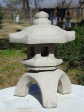 ORIENTAL 3PC JAPANESE PAGODA LANTERN GRAY CONCRETE/CEMENT STATUE GREAT GIFT IDEA