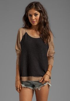 Love this shirt. I don't usually like black and brown together, but this just works.