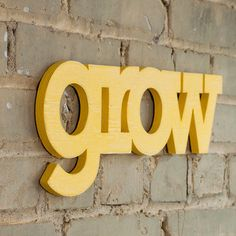 My favourite word. Would love to have this on my wall - comes in any colour you want as well, I am loving it in yellow.