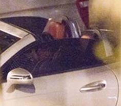 Baekhyun and Taeyeon sitting in a Mercedes, K-I-S-S-I-N-G...