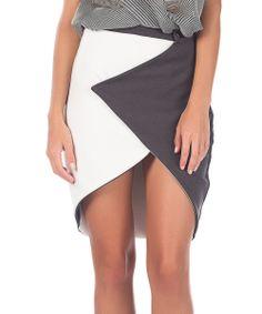 Gray Lea Hi-Low Mini Skirt