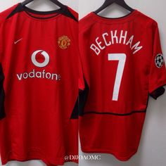 Manchester United Home 2002/2003 UEFA Champions League David Beckham