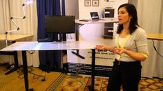See Stephanie Gilbert, CEO of Ergoprise, talk about the functionality of the S2S electric height and width adjustable desk.