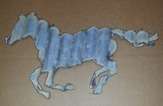 Corrugated Metal Horse