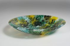 Adriatic Deep Sea by RICHARD G. BERENT: Art Glass Bowl available at www.artfulhome.com