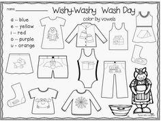 First Grade Blue Skies: Mrs. Wishy Washy freebie pack