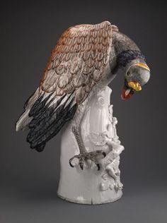 Modeled by Johann Joachim Kandler Meissen Porcelain Manufactory Germany, Meissen, King Vulture