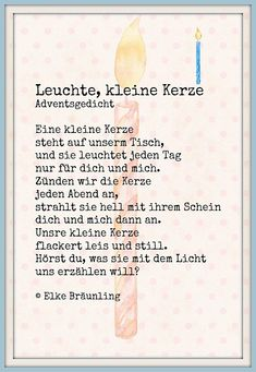 Sometimes silence is the most powerful scream and indication of something being terribly wrong. The post Leuchte, kleine Kerze. Adventsgedicht appeared first on Dekoration. Winter Christmas, Christmas Time, Merry Christmas, Christmas Poems, Christmas Recipes, Kindergarten Portfolio, Diy Crafts To Do, Small Candles, Kids And Parenting