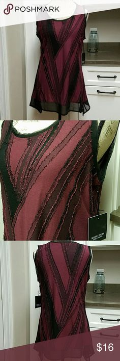 "NWT Simply Vera Sleeveless Such a cool, edgy top. Polyester rayon.  Chest: 38"" Length: 27"" Simply Vera Vera Wang Tops"