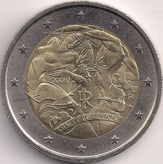 Motivseite: Münze-Europa-Südeuropa-Italien-Euro-2.00-2008-Diritti Umani