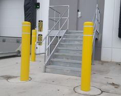 Thank you, Dan Kerrugan of Golden State Foods, for submitting this Post Guard Bollard Cover photo in McCook, IL! https://www.postguard.com/bollard-covers.php…