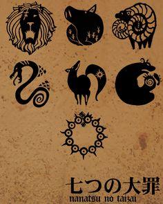 Signos que representan a los pecados.