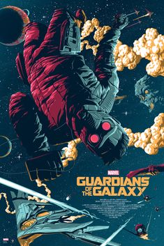 """Guardians of the Galaxy"" limited edition Marvel poster. Officially licensed Film Poster by Florey. Regular and variant Marvel poster. Marvel Variant Art."