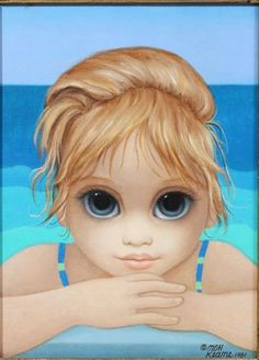 "Big Eyes ""The Little Surfer"" by Margaret Keane"