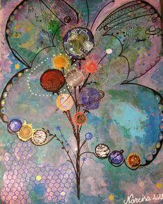 Când un fluture bate din aripi într-o parte a Universului, în partea opusă lui se naște o nouă Galaxie. #paintings #art #giftideas #intuitivepaintings #intuitiveart #paintingsforsale #paintings #art #giftideas #intuitivepaintings #intuitiveart #paintingsforsale Painting, Art, Art Background, Painting Art, Kunst, Paintings, Performing Arts, Painted Canvas, Drawings