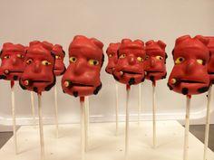 #Hellboy #Cake Pops