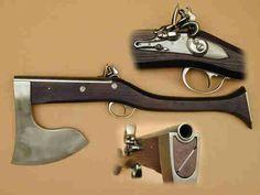 Flintlock pistol/axe.