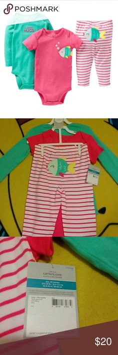 NWT Carter's 24 months 3 piece set  Reminder: App Charges 20% Fee On Item's Over $15 And $3 On Items $15 & Under.  Negotiations Done Through The Offer Button. Thank You! Carter's Matching Sets