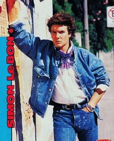 Simon in double denim Great Bands, Cool Bands, Bible Doodling, Simon Le Bon, Amazing Songs, Double Denim, New Wave, Golden Age, Sims