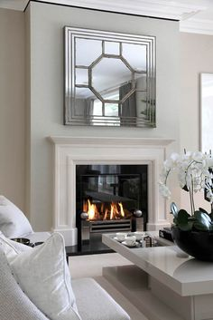 Fireplace Photo Gallery - English Stone Mantels, Balanced Flue Fires, Bespoke Fireplaces and Restoration