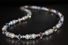 Pearl Necklace Wedding, Swarovski Crystal Necklace, Bridal Necklace, Bridal Jewellery, Swarovski Pearls, Wedding Jewelry, Beaded Bracelets, Necklaces, Crystal Wedding