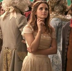 Emma Watson on Beauty and the Beast set