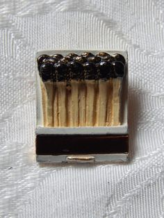 Vintage Matchbook Brooch/Pin Enamel Book Of by meetingofthefinds