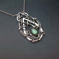 Truly Elvish Pendant Sterling Silver Celtic Elven by ElnaraNiall, $109.99
