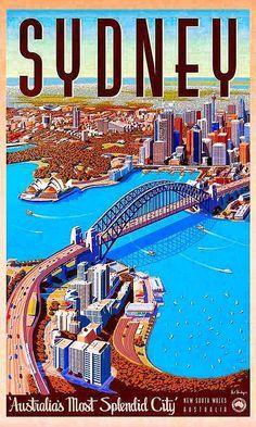 Sydney, Australia #Vintagetravelposters