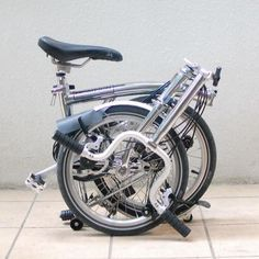 Chrome plated Brompton from Sunny Zeng at Facebook