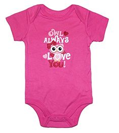 Assorted Love  Heart Boys  Girls Valentines Day Bodysuit Dress Up Outfit 03 Months Owl Always Love You ** Check out the image by visiting the link.Note:It is affiliate link to Amazon.