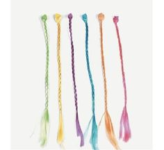 Toy Nylon Hair Braid Extensions Attachments U.S 12 Pieces
