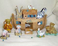 Cherished Teddies Noah's Ark Gift Set LE Used Excellent Condition WANT