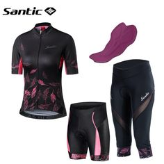 Santic Short Sleeve Cycling Jersey Women Summer Road Bike MTB Short Jersey  Motocross Running Jersey Shirt Sport Bicycle Clothing. 21d3f60de