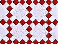 Crimson and White Nine Patch Crib Quilt; Amish Country Quilts