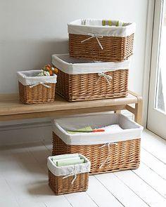 Lined Rattan Basket