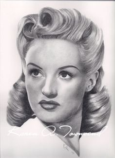 softer top, side swept but with one (maybe 2) side pinned up and the victory roll curls for the down part.