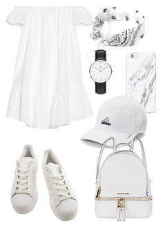 """""""white summer festival"""" by ksasya on Polyvore featuring Elizabeth and James, adidas, Daniel Wellington, Michael Kors, Summer, white, festival and 2016"""