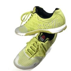 the latest b1d5e 86526 Reebok Crossfit CF74 Womens Size US 9.5 Shoes Yellow Lime Gray fashion  clothing