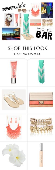 """""""Summer Date: Rooftop Bar"""" by holly32196 on Polyvore featuring Victoria's Secret, LE3NO, JustFab, Melie Bianco, River Island, Ralph Lauren, summerdate and rooftopbar"""