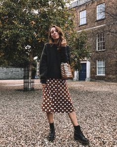 2fb80b212fb87 Black sweater + midi skirt + black boots Ciara O Doherty on Instagram Winter  Skirt