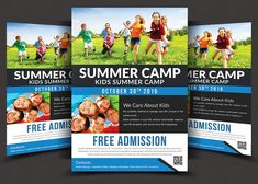 Kids Summer Camp Flyer Templates  by AfzaalGraphics on @creativemarket