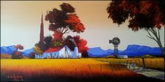 Nic Van Rensburg   Visit Art Gallery   Kirsten Art Gallery Acrylic Paintings, Landscape Paintings, Landscapes, South African Artists, Painting Lessons, Ceramic Painting, Bunker, Naive, Folk Art
