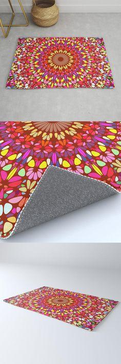 Happy Indian Summer Mandala Rug by David Zydd #MandalaRug #BestRugs #MandalaDecor #Design #SacredGeometry #Boho #MandalaArtwork #Happy #ColorMandala (tags: energy, mandala, design, colorful, artwork, floral, oriental, floral mandala, mandala graphic, home decoration, decor, home decor, geometry, floral graphic, multicolor, living room, arts, mandala decor) Mandala Rug, Mandala Artwork, Mandala Design, Colorful Artwork, Indian Summer, Cool Rugs, Sacred Geometry, Boho Decor, Oriental