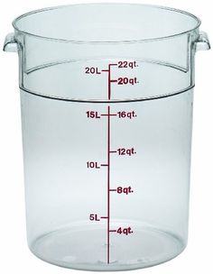 Cambro RFSCW22135 Camwear Storage Container round 22 qt. clear - Case of 6