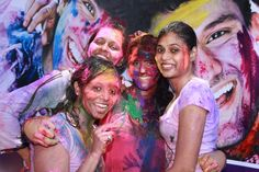Enjoying the colourful Holi festivities held at the paradise beach on march 2013 March 2013, Holi, 30th, Paradise, Beach, The Beach, Holi Celebration, Heaven